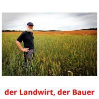 der Landwirt, der Bauer picture flashcards
