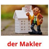 der Makler picture flashcards