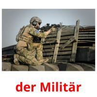 der Militär picture flashcards