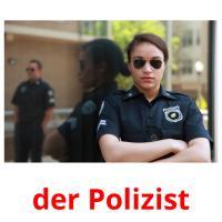 der Polizist picture flashcards