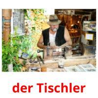 der Tischler picture flashcards