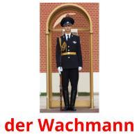 der Wachmann picture flashcards