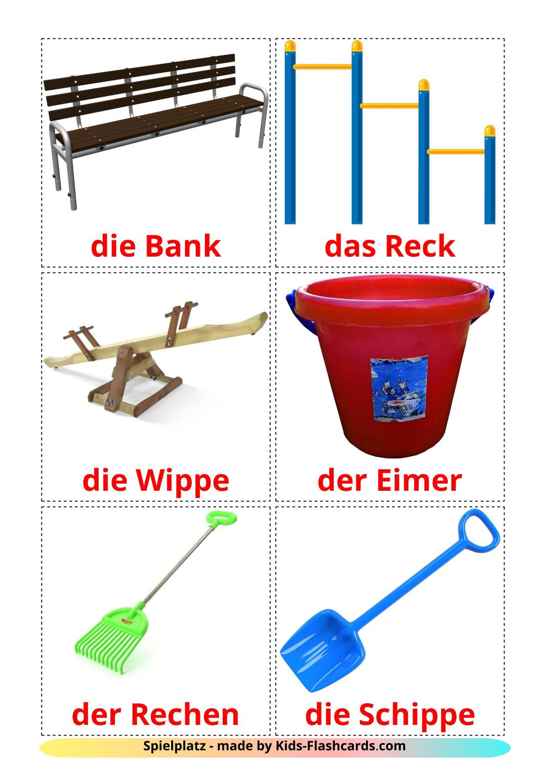 Playground - 13 Free Printable german Flashcards