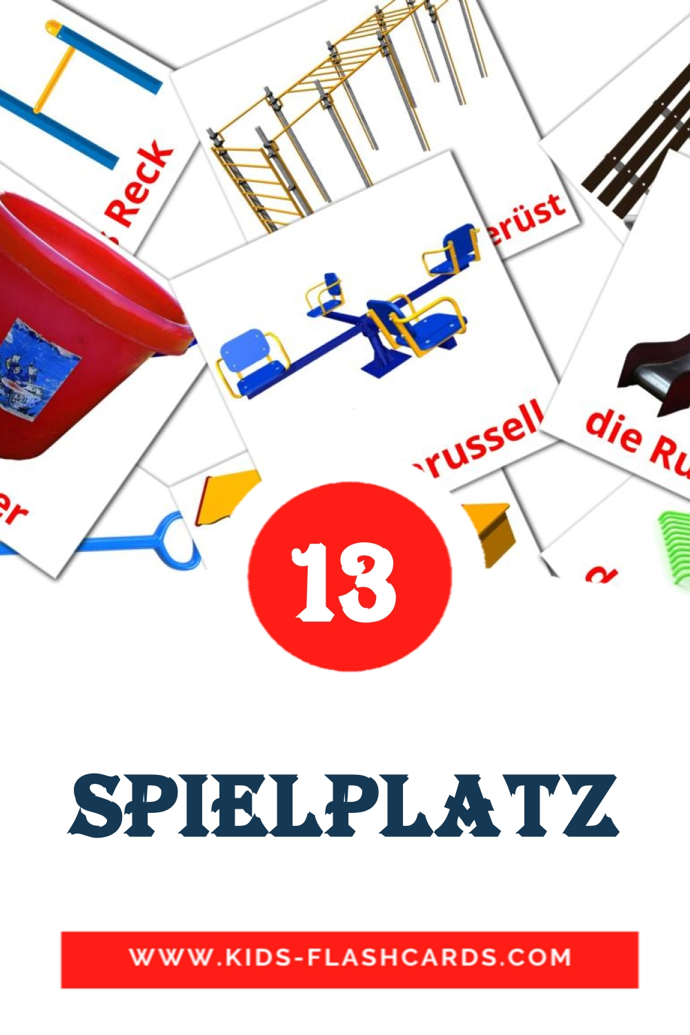 13 Der Spielplatz  Picture Cards for Kindergarden in german