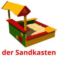 der Sandkasten picture flashcards