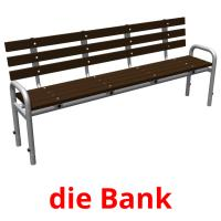 die Bank picture flashcards