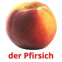 der Pfirsich picture flashcards