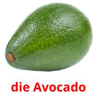 die Avocado picture flashcards