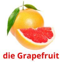 die Grapefruit picture flashcards
