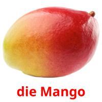 die Mango picture flashcards