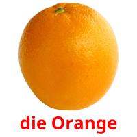 die Orange picture flashcards