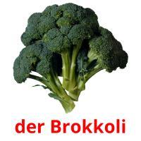der Brokkoli picture flashcards
