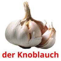 der Knoblauch picture flashcards