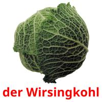 der Wirsingkohl picture flashcards