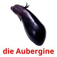 die Aubergine picture flashcards