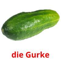 die Gurke picture flashcards