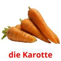 die Karotte picture flashcards