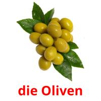 die Oliven picture flashcards