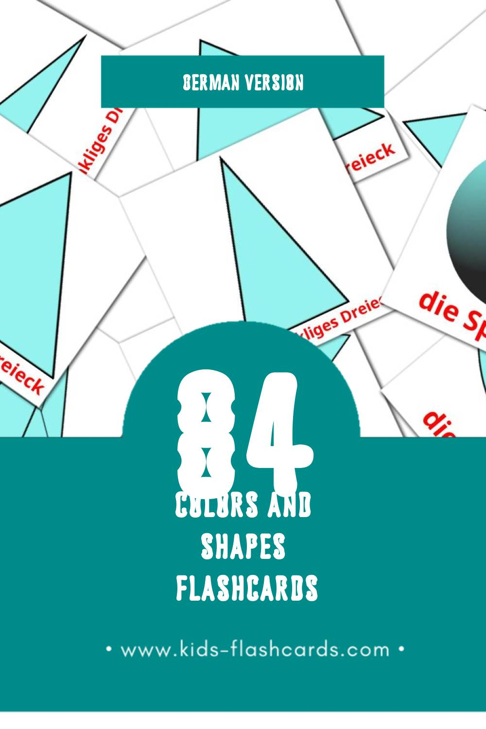 Visual Farben und Formen Flashcards for Toddlers (84 cards in German)