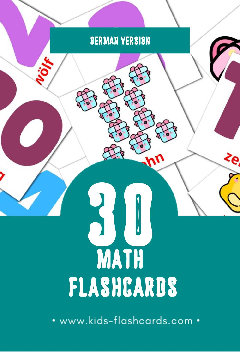 Visual Mathematik Flashcards for Toddlers (30 cards in German)