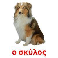 ο σκύλος picture flashcards