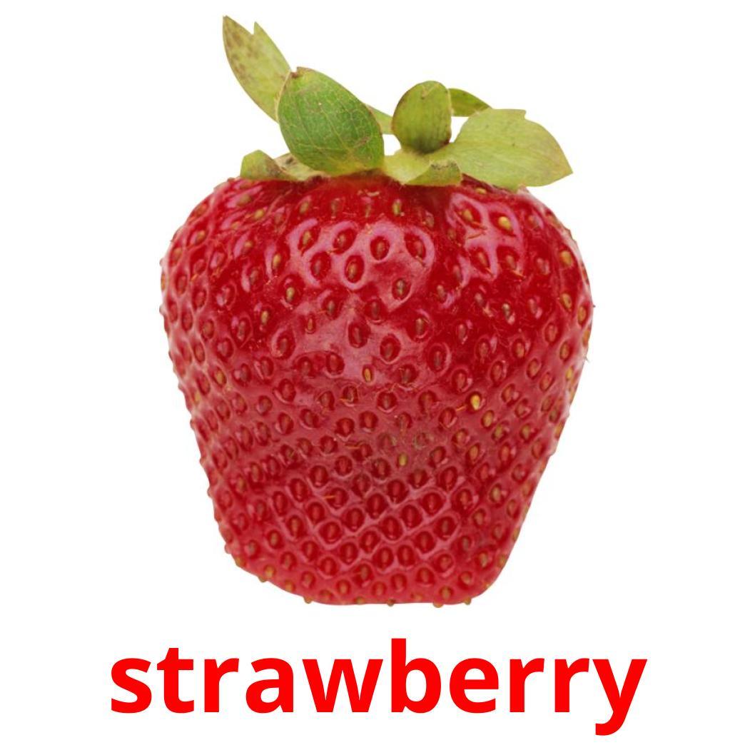 11 Free Berries Flashcards in english (PDF files)