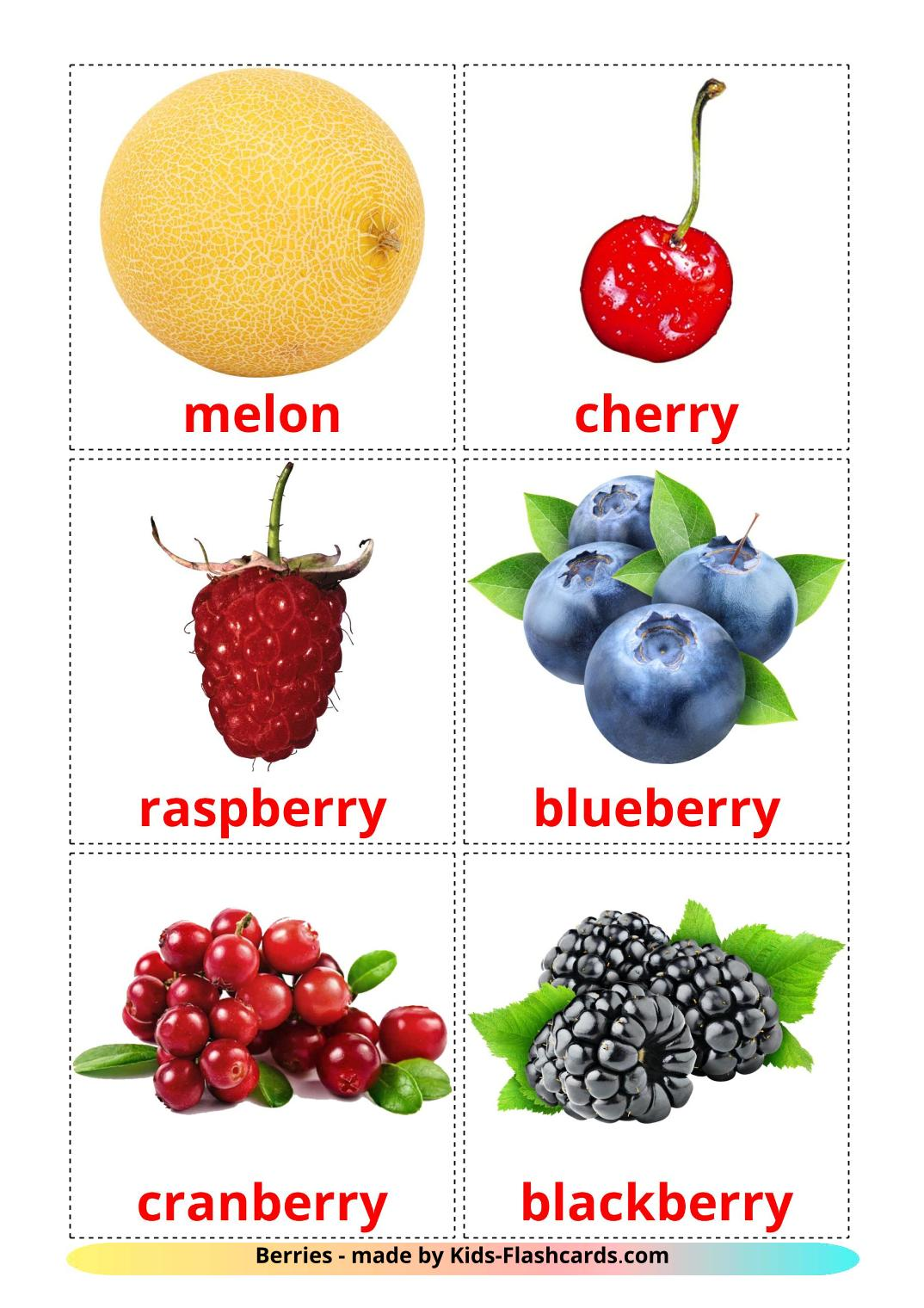 Berries - 11 Free Printable english Flashcards