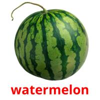 watermelon picture flashcards