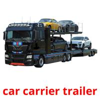 car carrier trailer picture flashcards