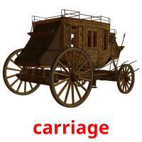 carriage picture flashcards