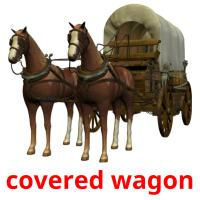 covered wagon picture flashcards