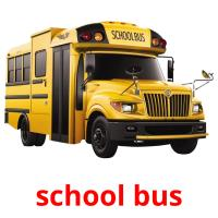 school bus picture flashcards