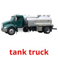 tank truck picture flashcards