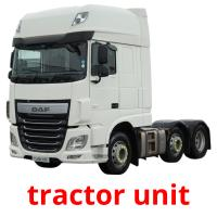 tractor unit picture flashcards