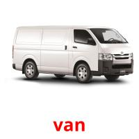 van picture flashcards