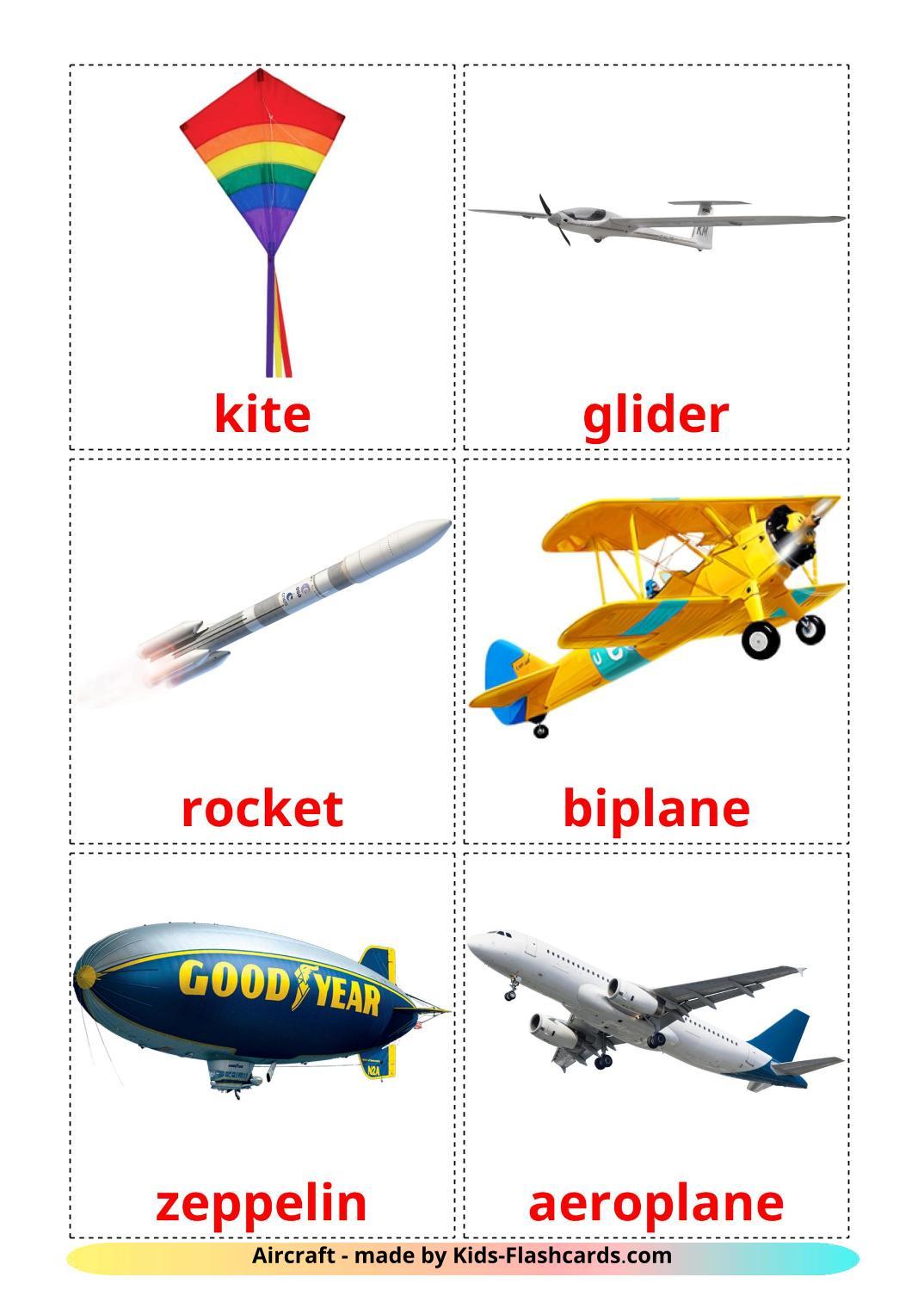 Aircraft - 14 Free Printable english Flashcards
