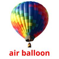 air balloon picture flashcards