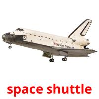 space shuttle picture flashcards
