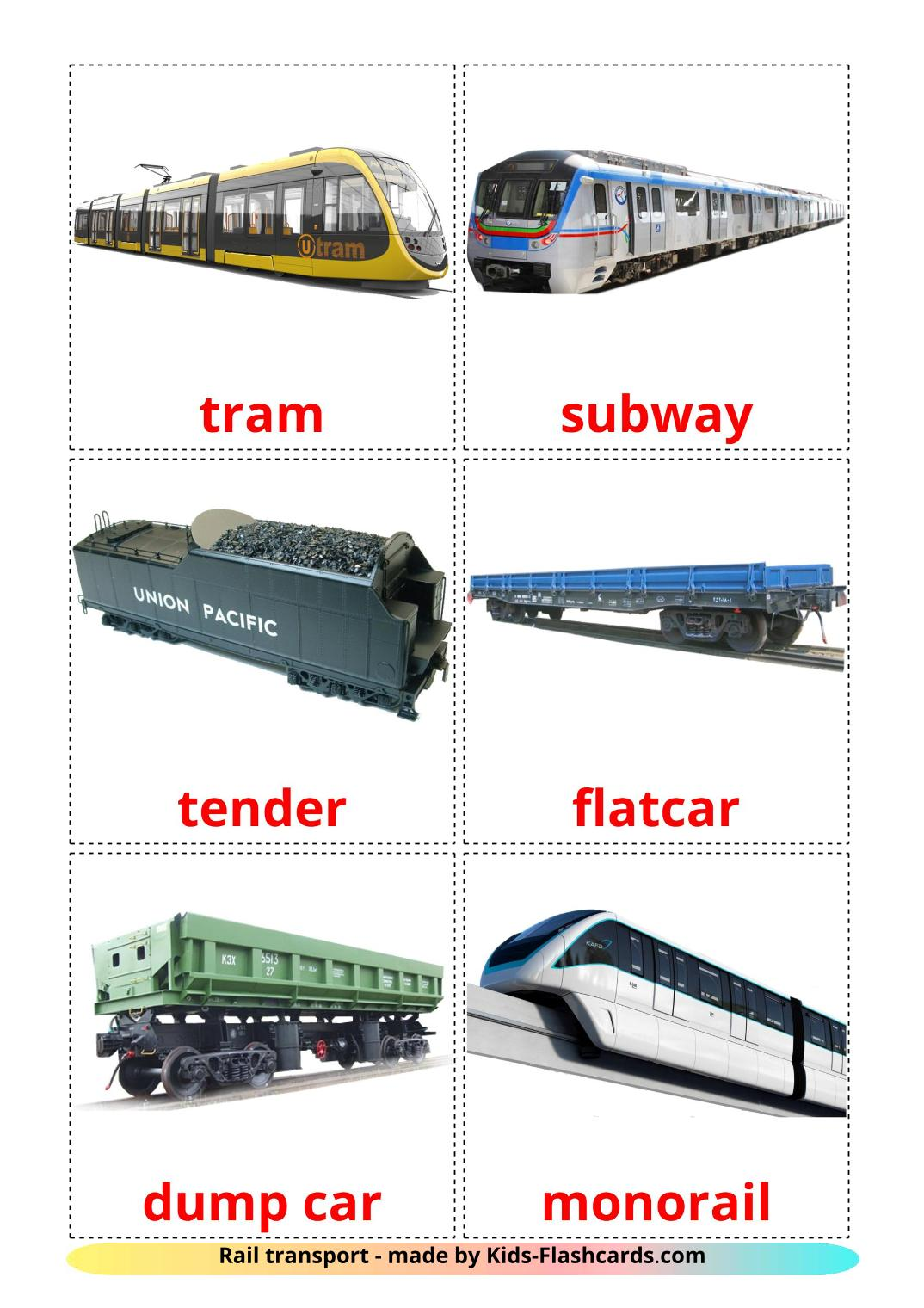 Rail transport - 18 Free Printable english Flashcards