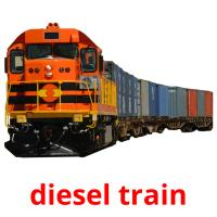 diesel train picture flashcards
