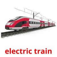 electric train picture flashcards