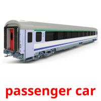 passenger car picture flashcards