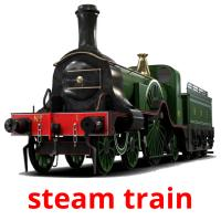 steam train picture flashcards