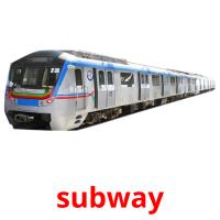 subway picture flashcards