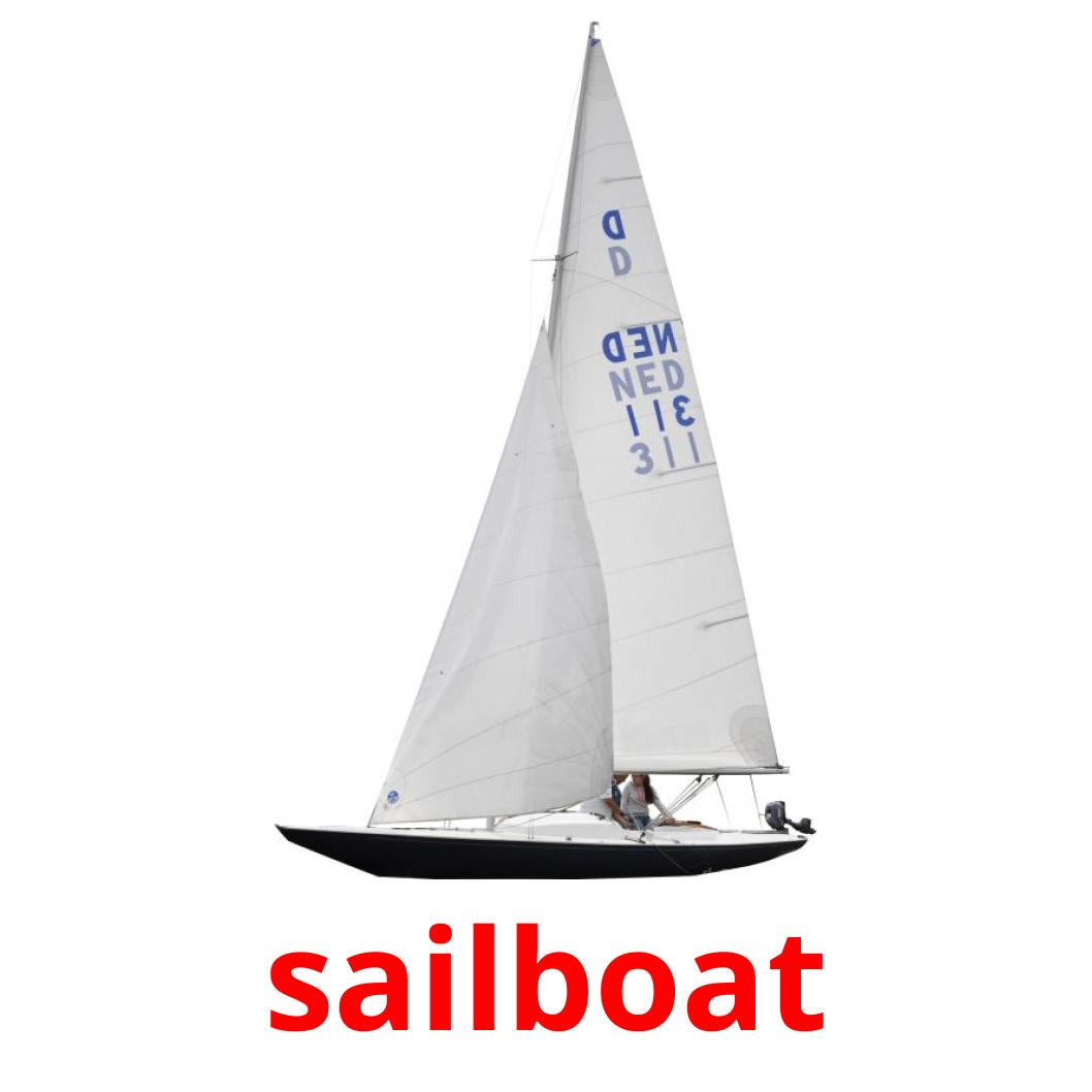 This is a graphic of Sailboat Printable for clip art nautical baby