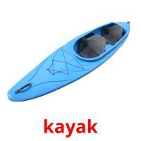 kayak picture flashcards