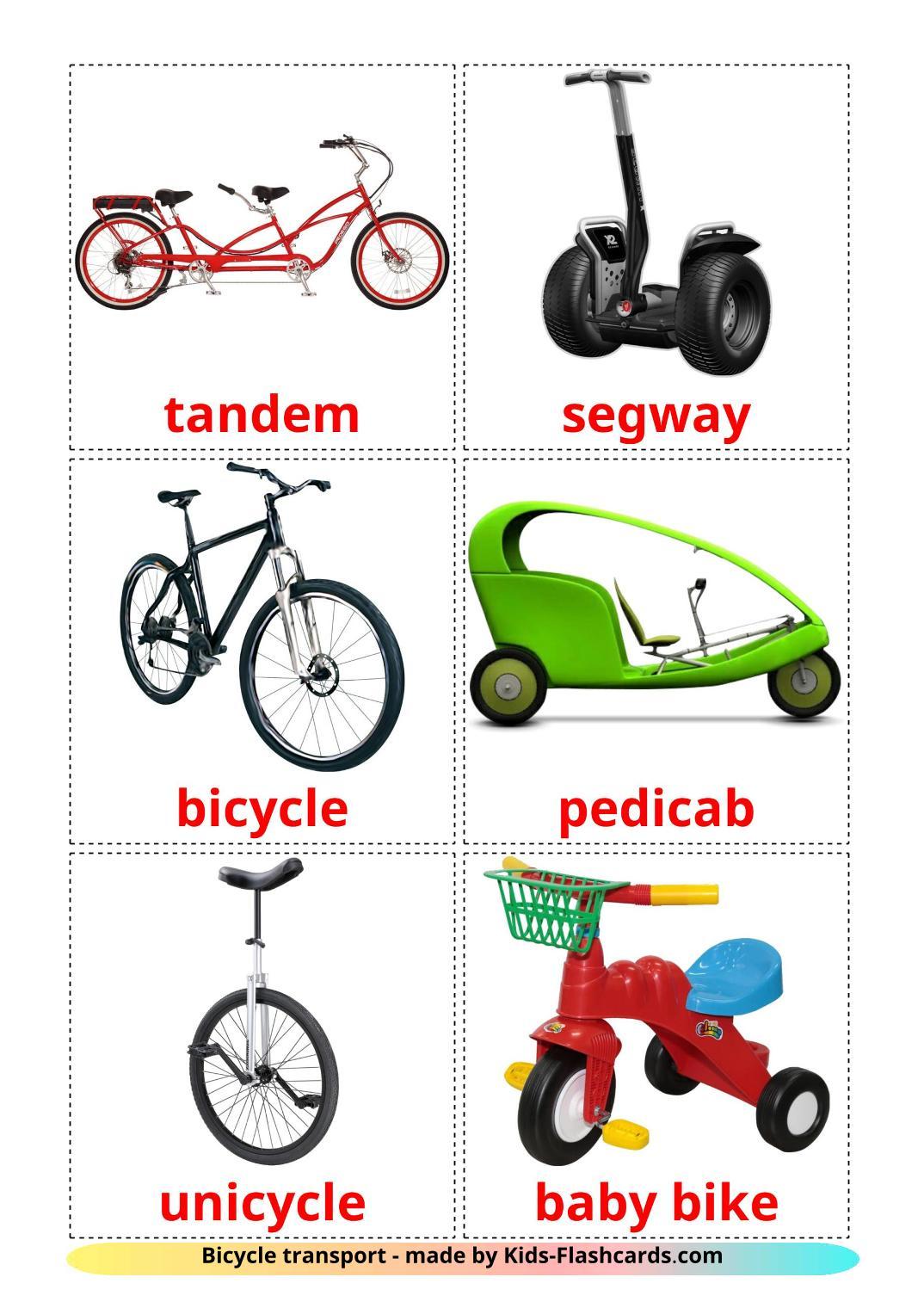 Bicycle transport - 16 Free Printable english Flashcards