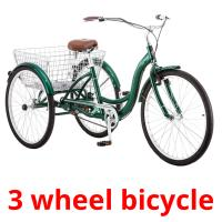 3 wheel bicycle picture flashcards