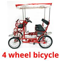 4 wheel bicycle picture flashcards