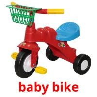baby bike picture flashcards